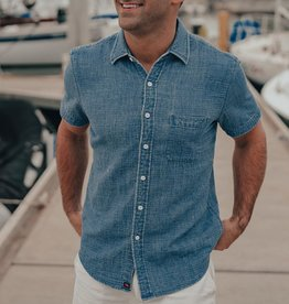 The Normal Brand Indigo Short Sleeve Double Cloth Lake