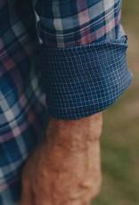 The Normal Brand Indigo Check Double Cloth Button Down