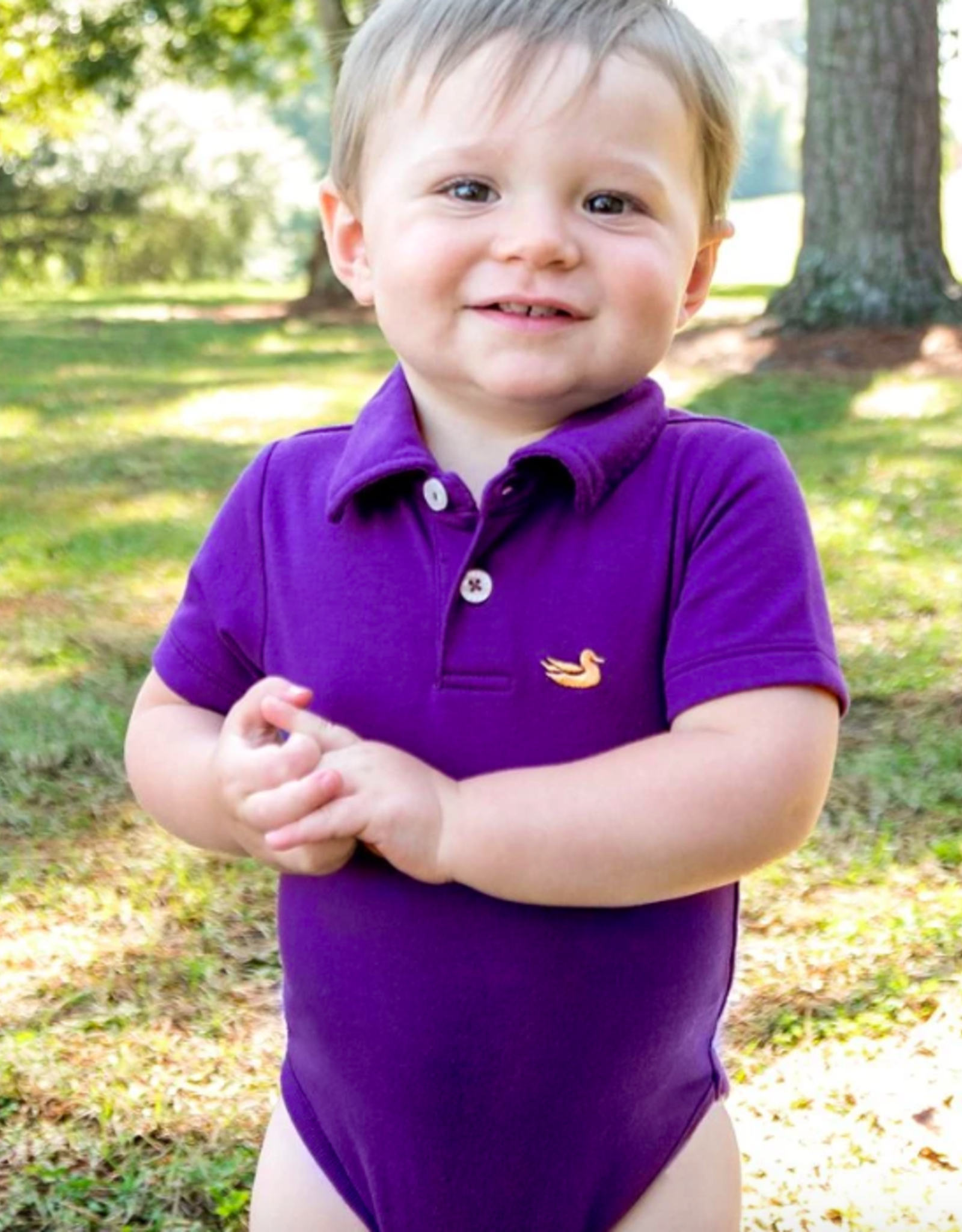 Southern Marsh Polo Snap Onesie