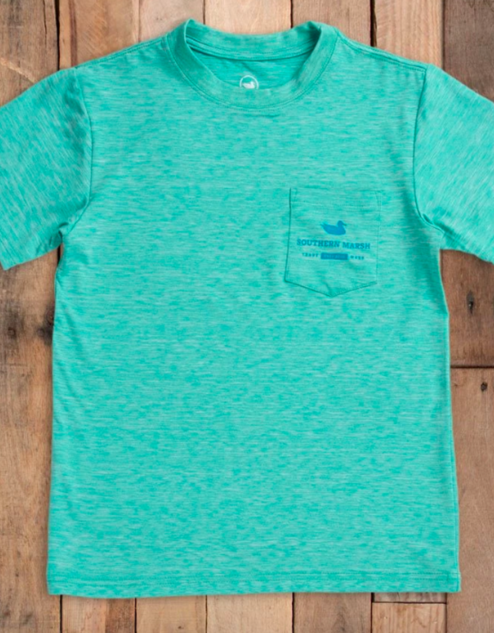 Southern Marsh Youth Field Tech Heathered Perf. Tee