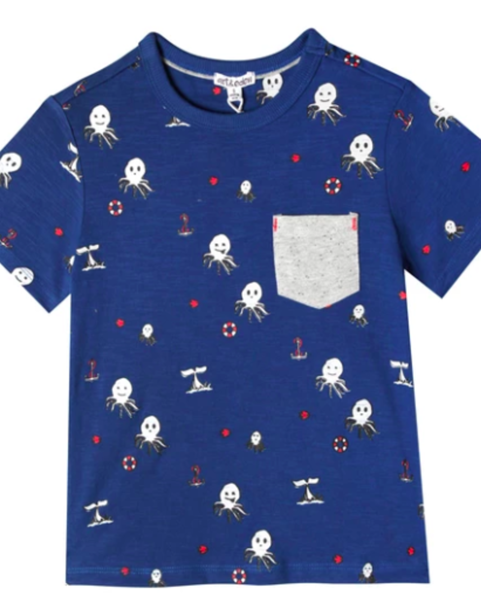 Art & Eden Graphic Pocket Shirt
