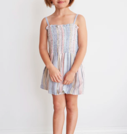 Bella Dahl Girls SMOCKED SHORT ROMPER