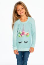 Chaser Girls Cozy Knit Raglan Pullover