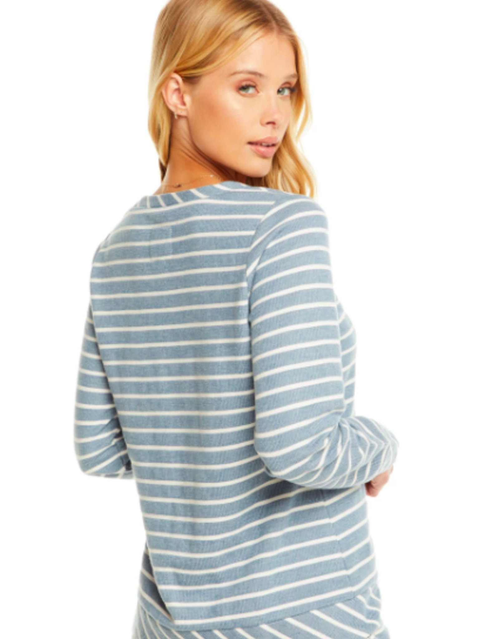 Chaser Stripe French Terry Pullover