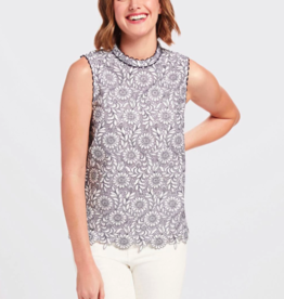 Draper James Floral Lace Top