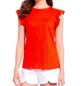 Draper James Eyelet Knit Top