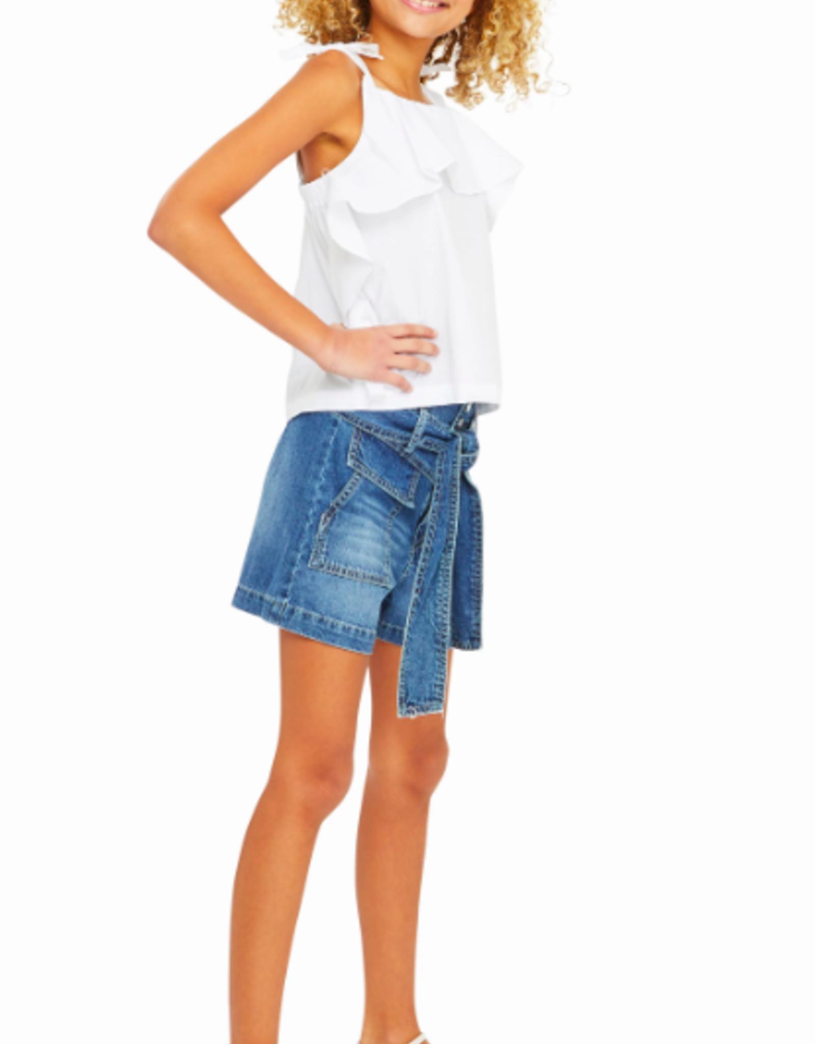 Habitual Girls Brisa Front Flounce Top