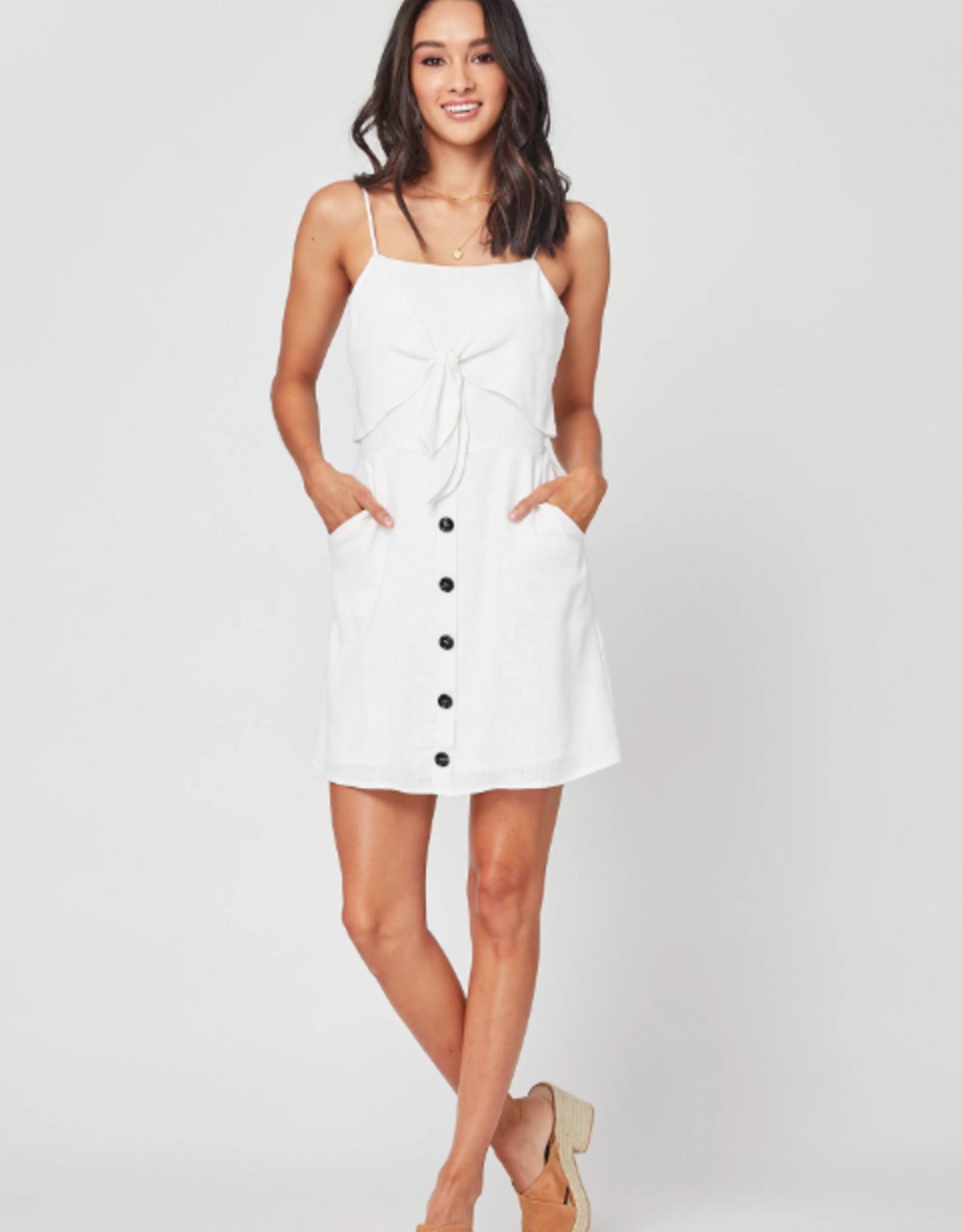 Lost + Wander Eva Linen Mini Dress