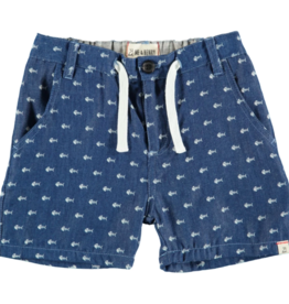 Me & Henry Fish Chambray Shorts