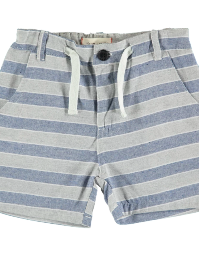 Me & Henry Beige Striped Woven Shorts