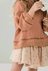 Rylee + Cru cross embroidered skirt
