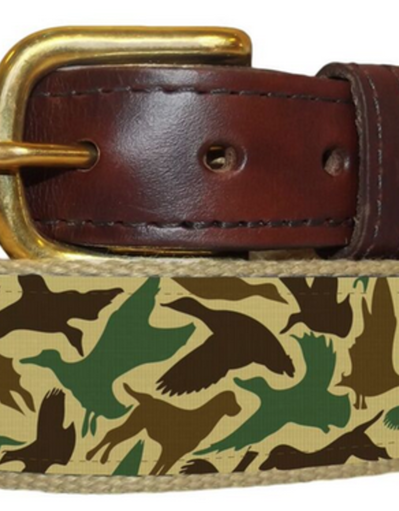 Over Under Youth Ribbon Belt--Old School Camo