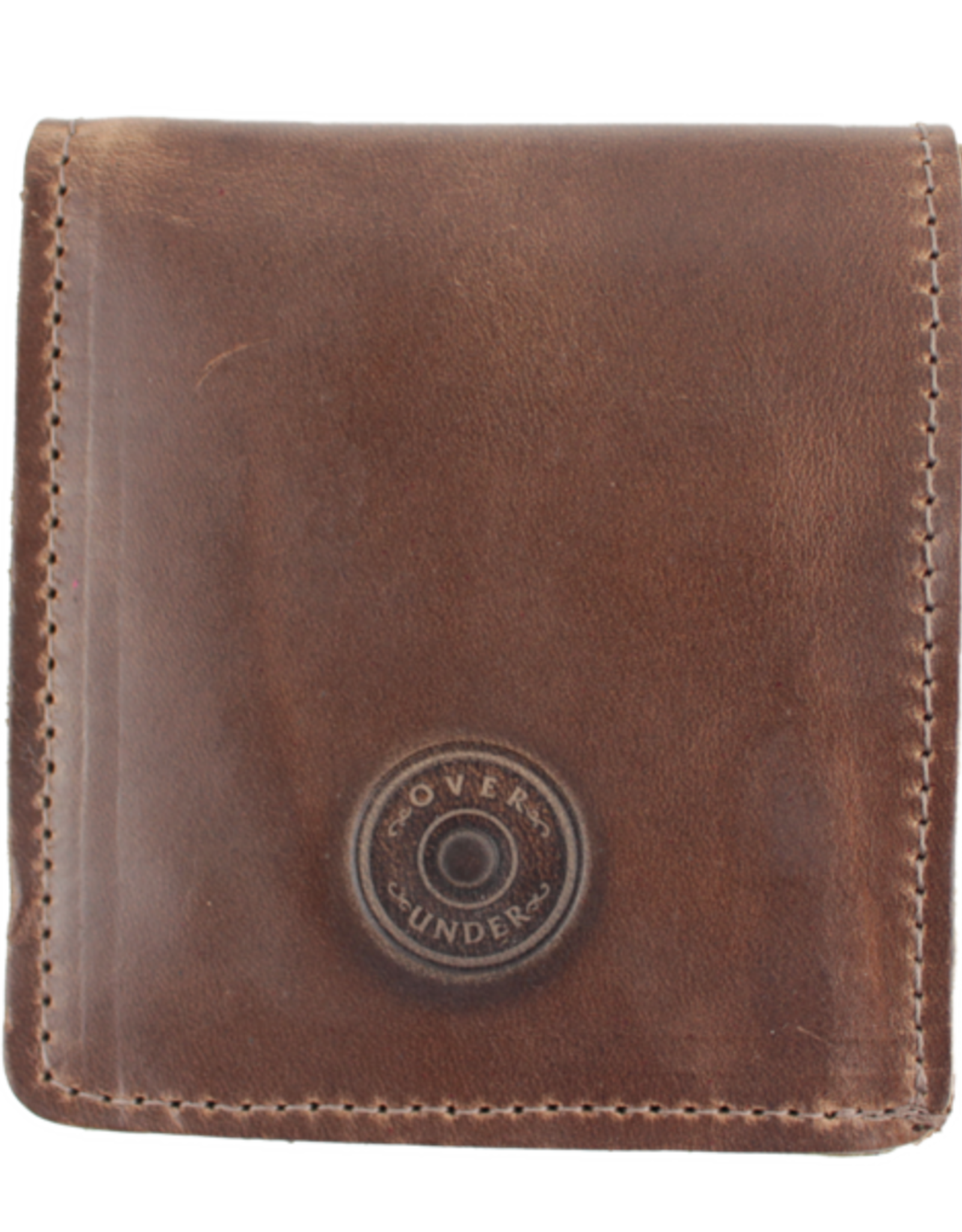 Over Under Horween Bi-Fold Wallet w/o Shot Shell - w/o Shot Shell
