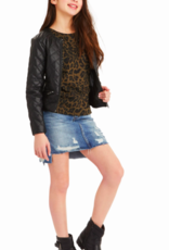 Habitual Girls Jade Faux Leather Quilted Jacket