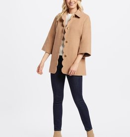 Draper James Brushed Wool Scalloped Poncho