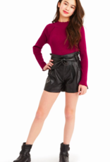 Habitual Girls Sawyer Faux Leather Shorts