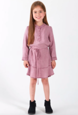 Bella Dahl Girls Ruffle Hem Belted Dress
