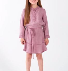 Bella Dahl Girls Ruffle Hem Belted Dress