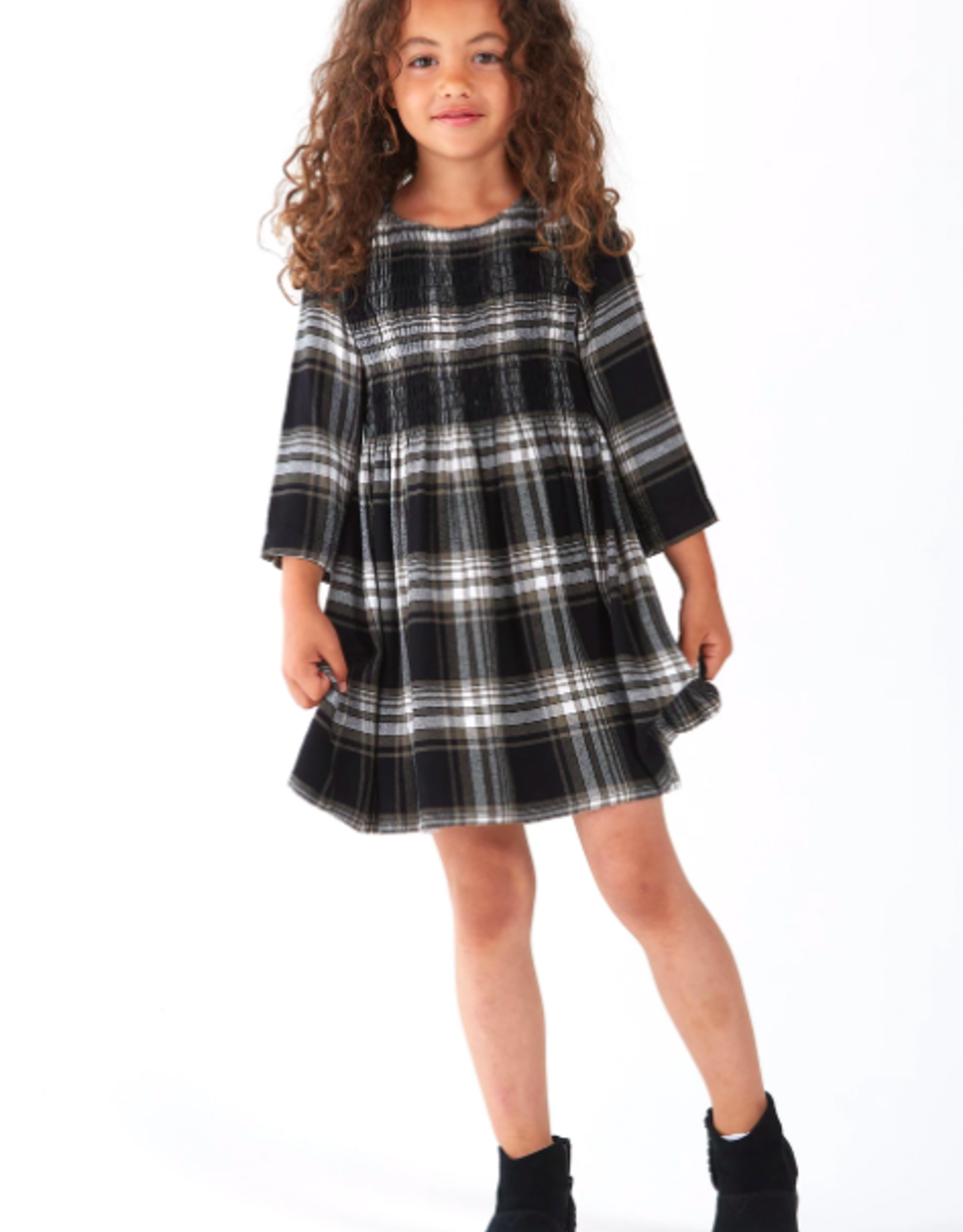 Bella Dahl Girls Smocked L/S Dress