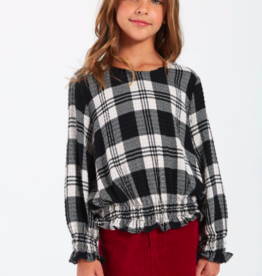 Bella Dahl Girls Ruffle Waist Popover Top