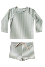 Rylee + Cru Stripe Rashguard Swim Set