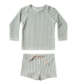 Rylee + Cru Stripe Rashguard Swim Set