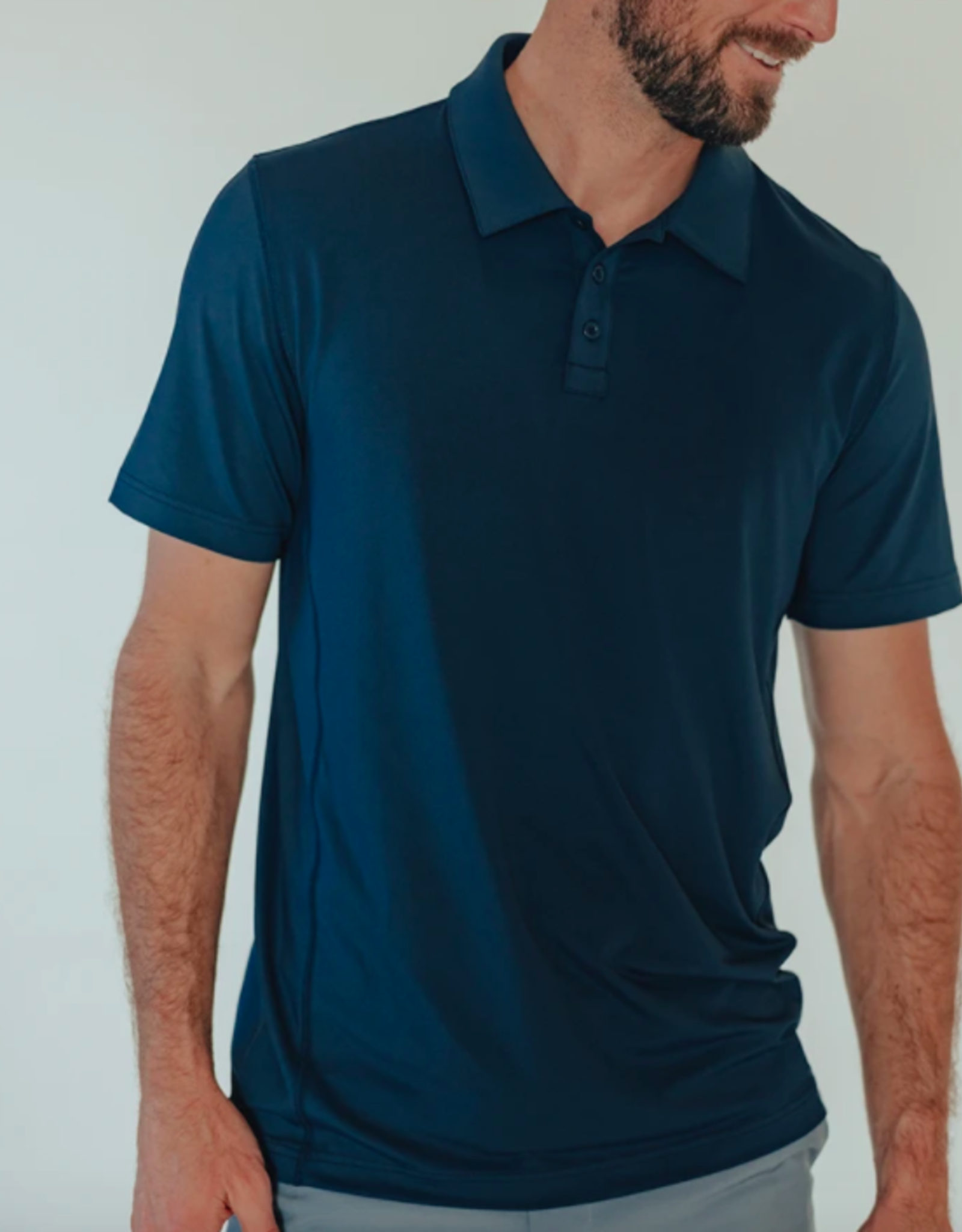 The Normal Brand Cross-Back Seamed Performance Polo