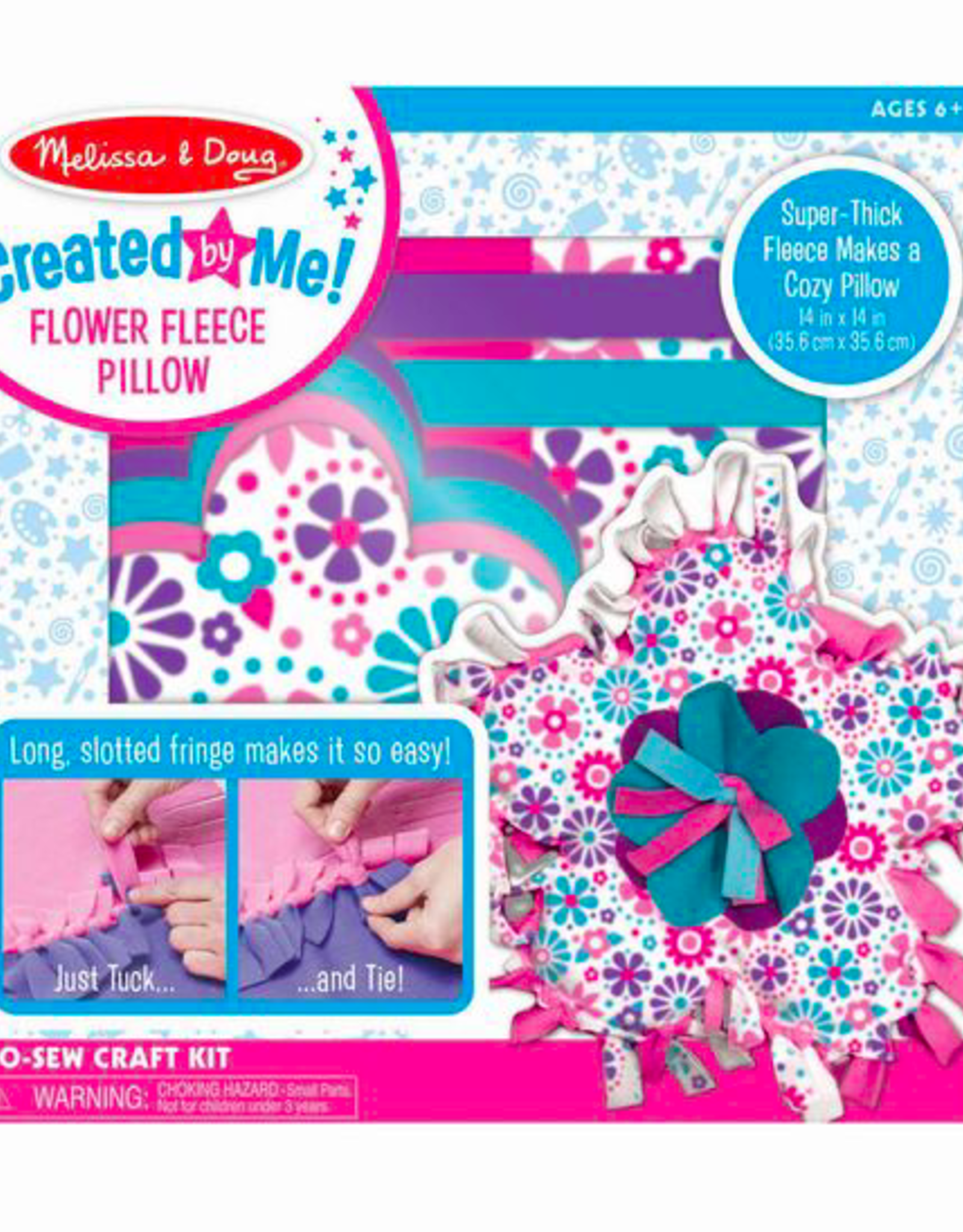 Melissa & Doug Created by Me- Flower Fleece Pillow