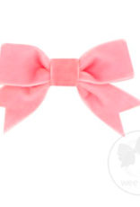 Wee Ones Mini Velvet Two-Loop Bow with Fancy Cut Tail