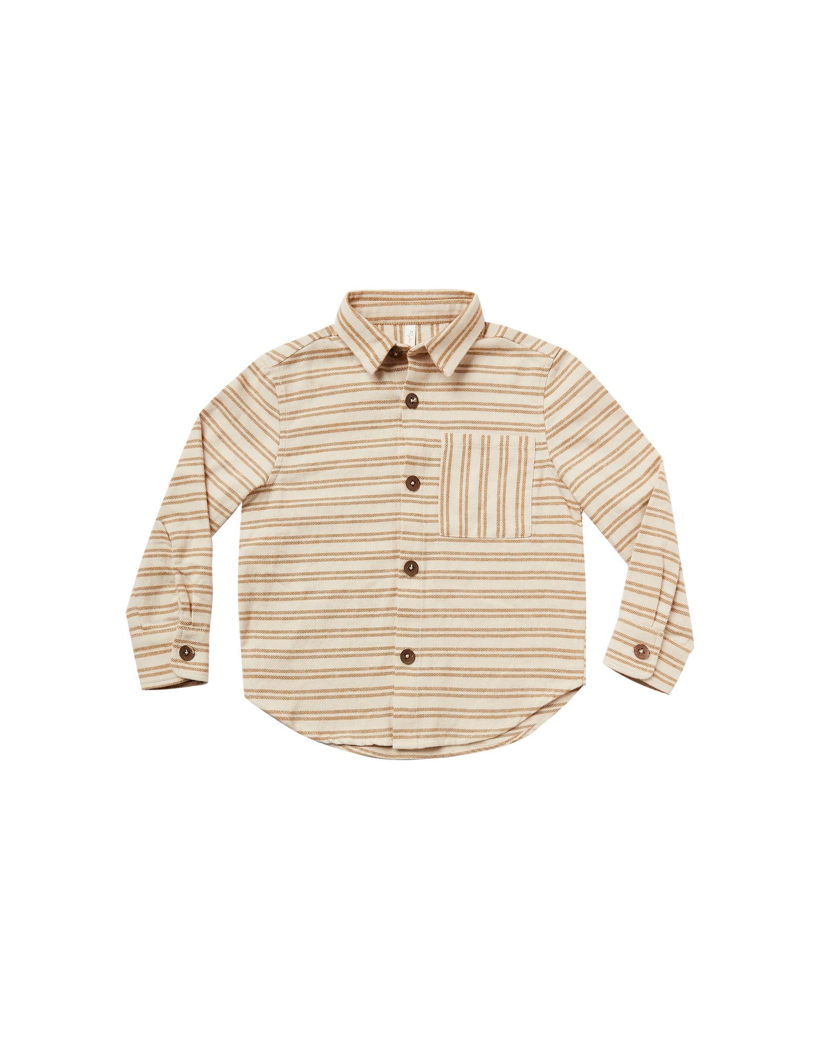 Rylee + Cru Striped Collared Shirt
