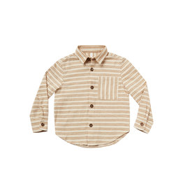 Rylee + Cru Striped Collared Shirt