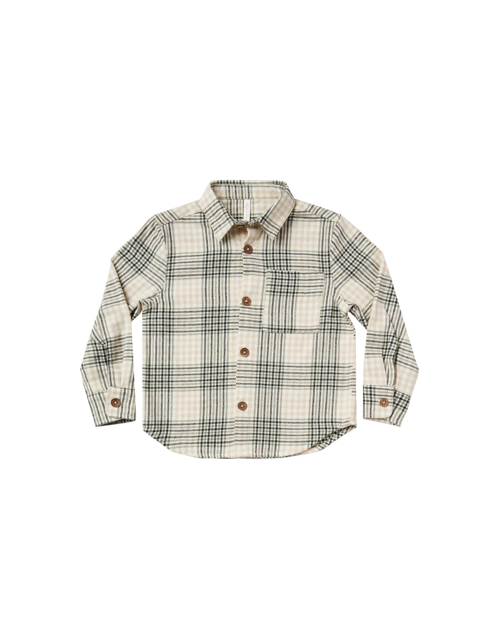 Rylee + Cru Flannel Collared Shirt