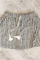 Rylee + Cru Striped Mini Skirt