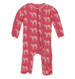 KicKee Pants Print Muffin Ruffle Coverall w Zipper