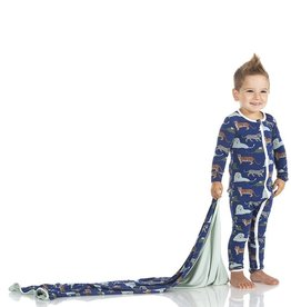 KicKee Pants Print Coverall w Zipper