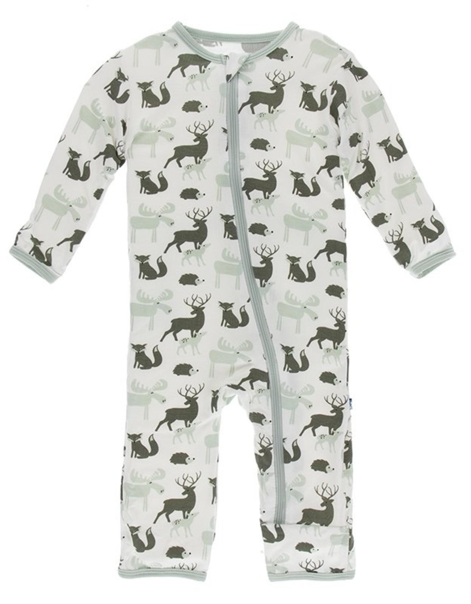 KicKee Pants Print Coverall w Zipper