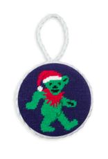 Smathers and Branson Dancing Bear Santa Needlepoint Ornament