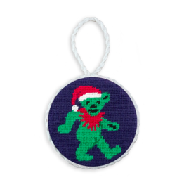 Smathers and Branson Dancing Bear Santa Needlepoint Ornament