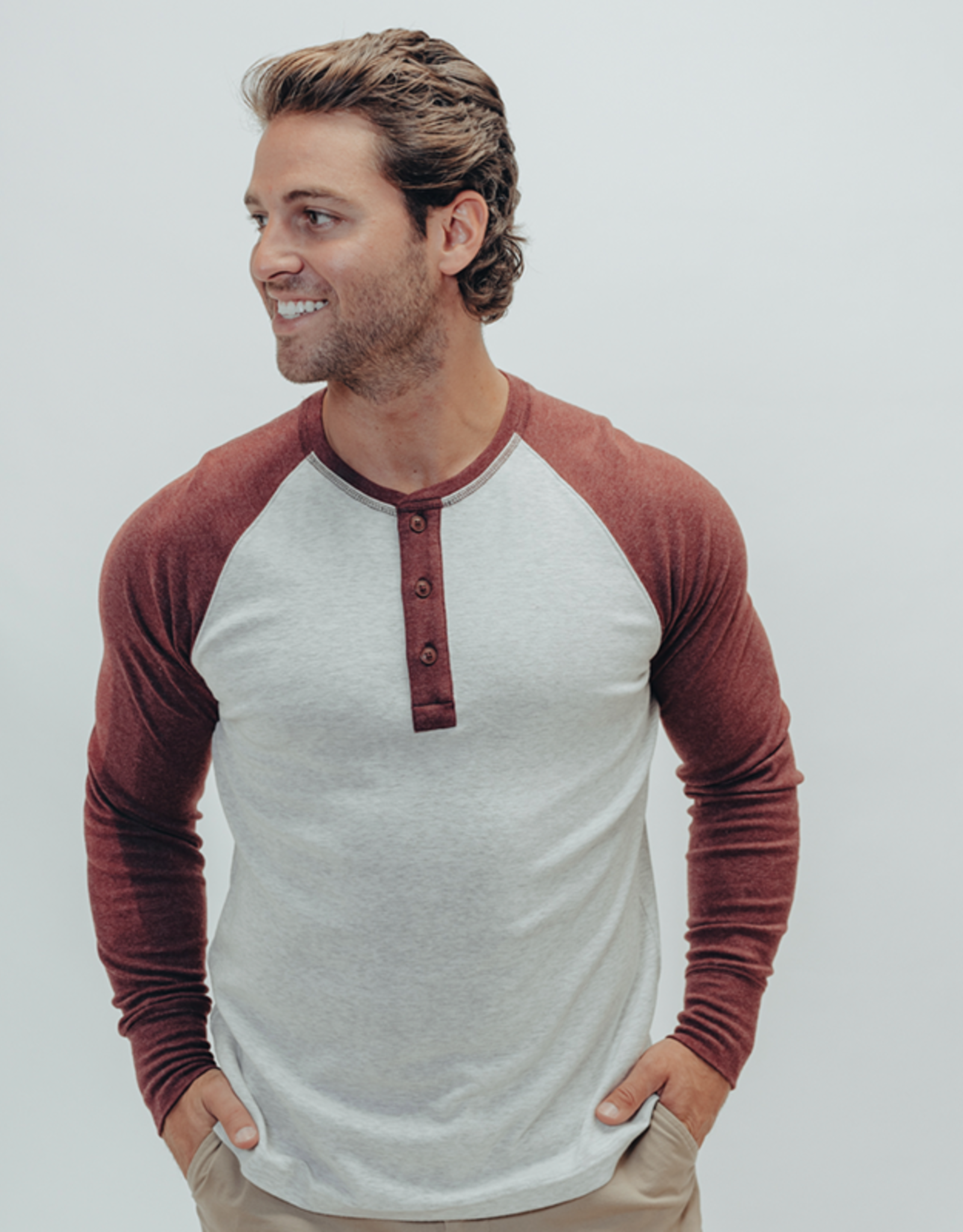 The Normal Brand LS Retro Puremeso Henley
