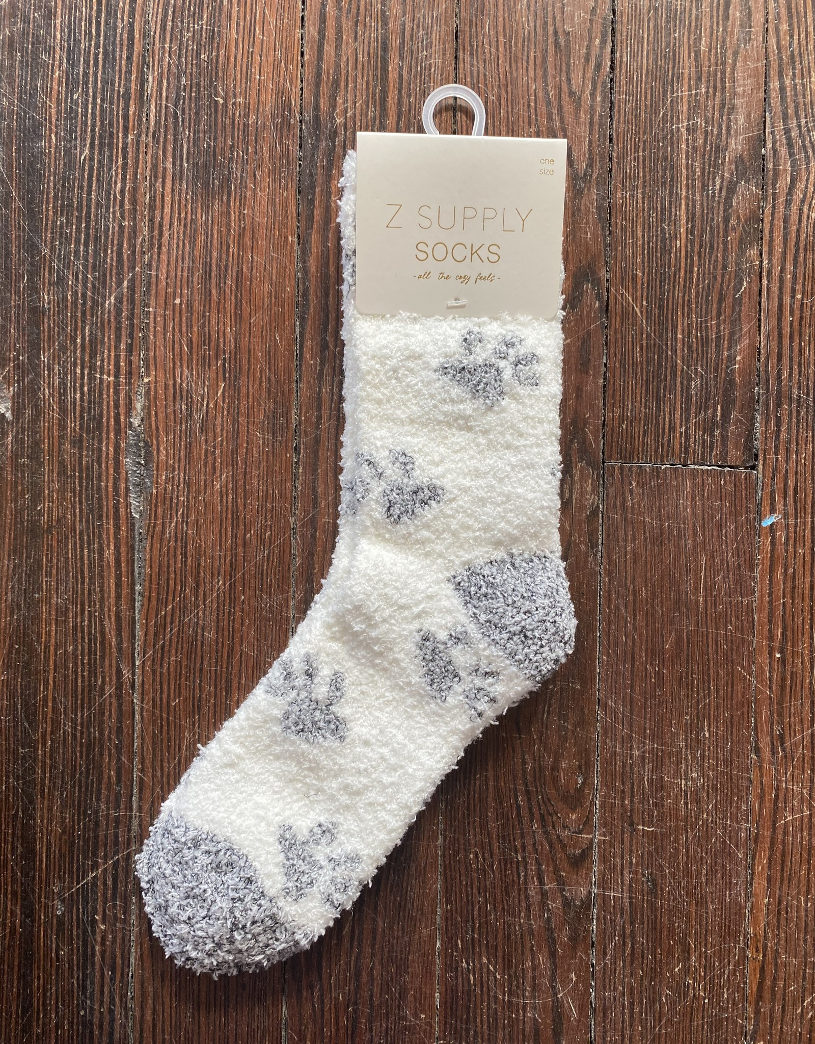 Z Supply Paws Plush Socks