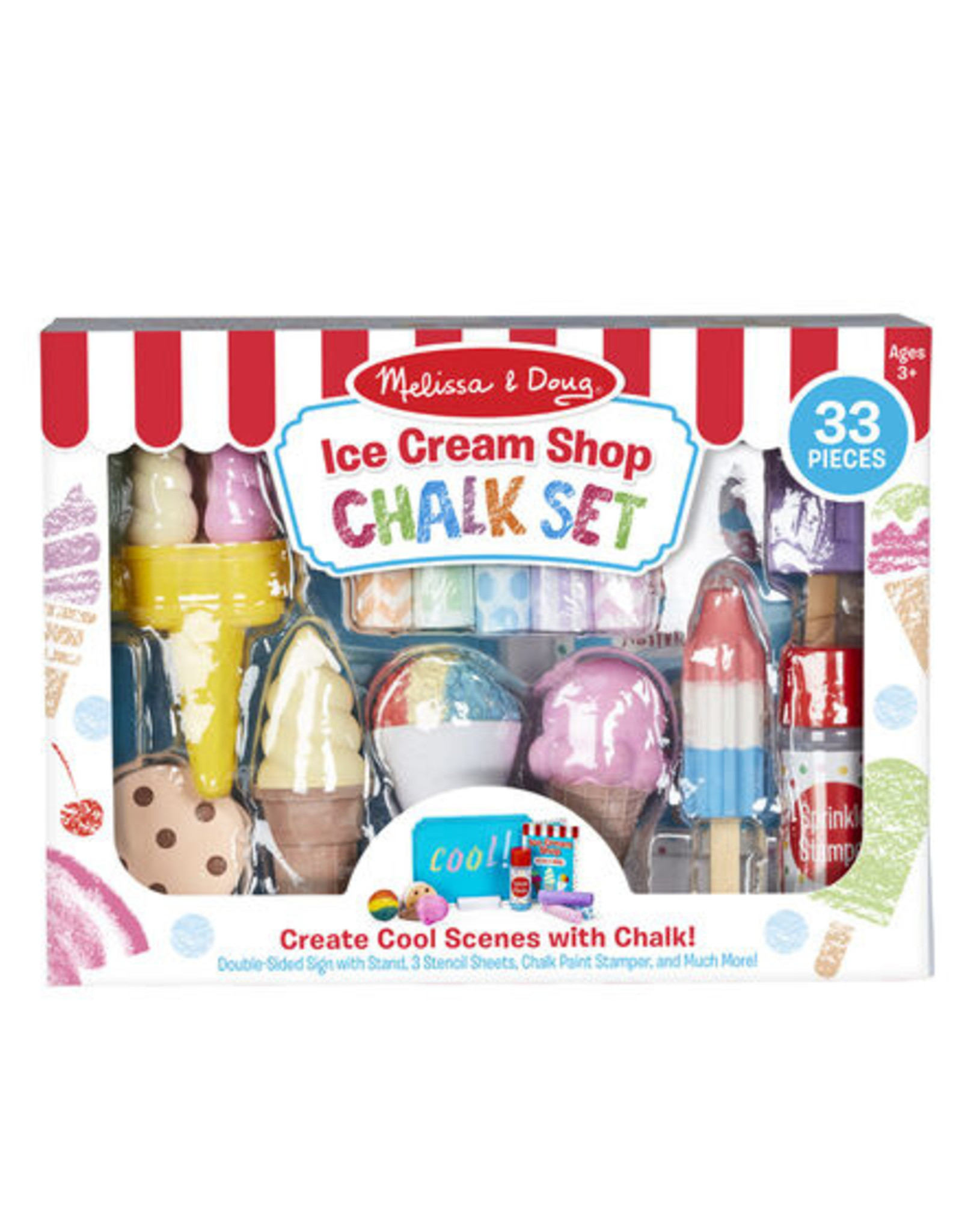 Melissa & Doug Ice Cream Shop Chalk Set