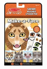 Melissa & Doug Make-a-Face Safari Reusable Sticker Pad