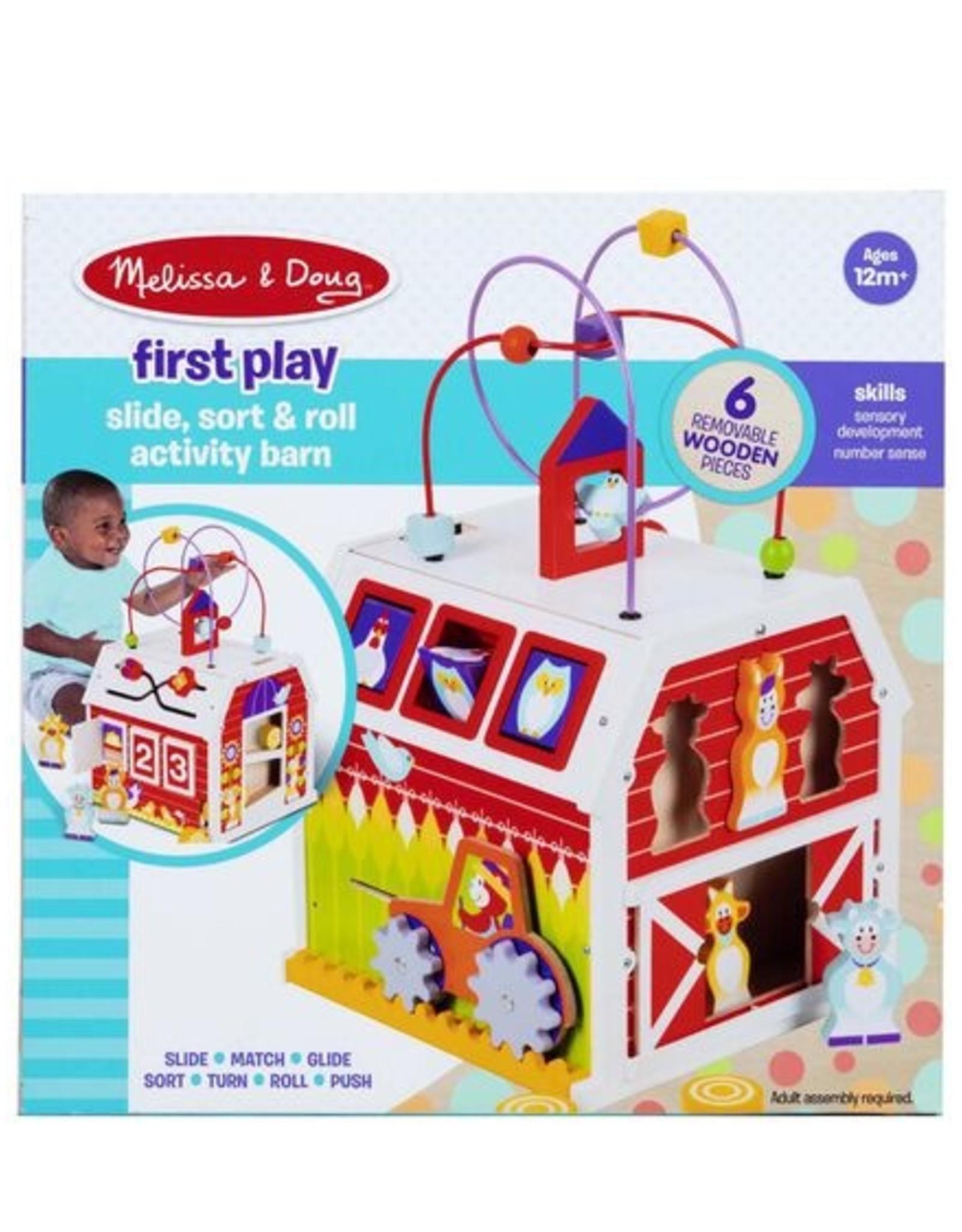 Melissa & Doug First Play Slide, Sort & Roll Activity Barn