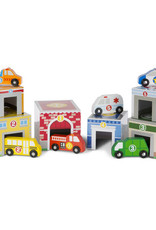 Melissa & Doug Nesting & Sorting Building & Vehicles