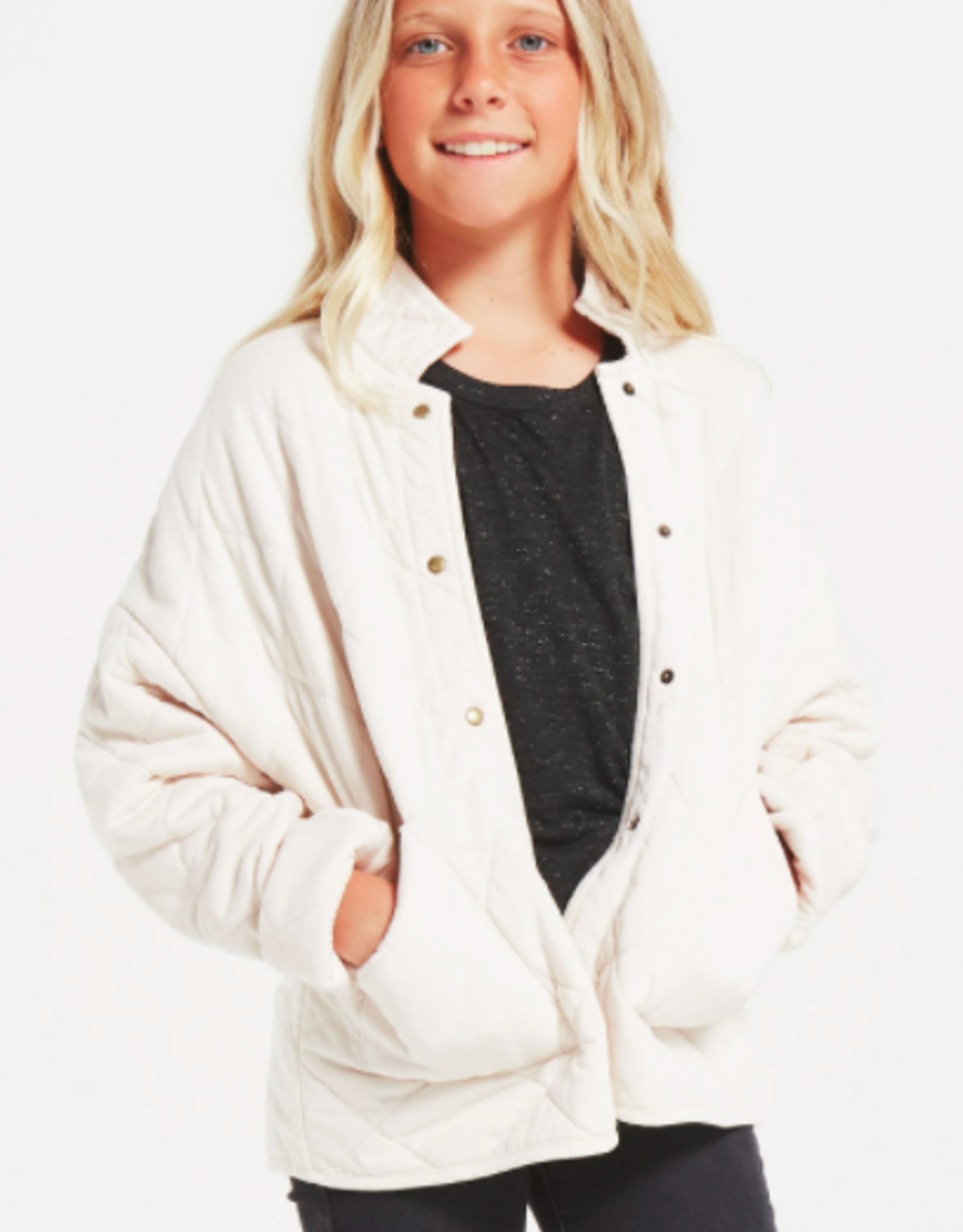 Z Supply Girls Maya Quilted Jacket