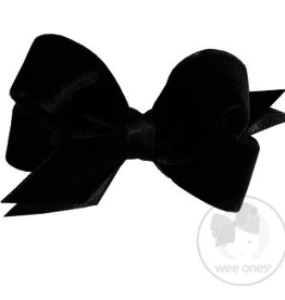 Wee Ones MINI SAT LINED VELVET BOW