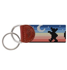 Smathers and Branson Grateful Dead Moondance Needlepoint Key Fob