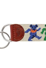 Smathers and Branson Dancing Bears (Oatmeal) Needlepoint Key Fob