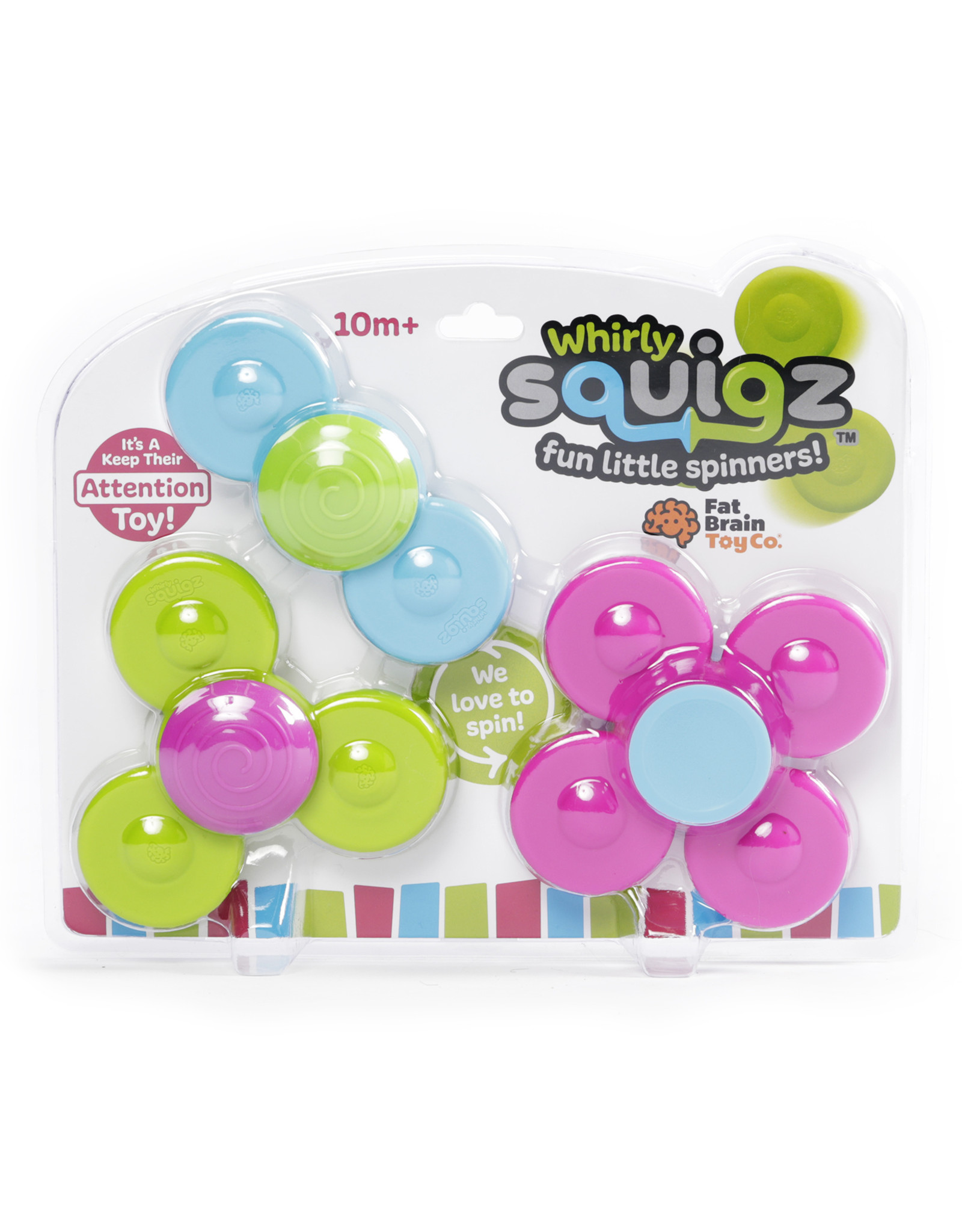 Fat Brain Toy Co. Whirly Squigz - Set of 3
