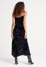 Bella Dahl Cowl Neck Bias Seamed Mini Dress